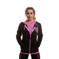 Muscle Joe Ladies Zip  Fleece Hoodie  Black