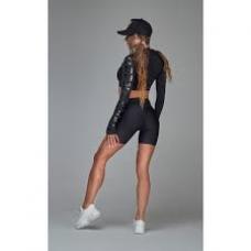 Women's Long Sleeve Crop TOP GUILTY BLACK