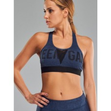 Women's Sports Bra - MELANGE DARK BLUE