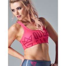 Women's Sports Bra - RAGING pink