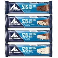 MULTIPOWER 53% PROTEIN BAR 24 X 50G (best før August)