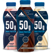 MULTIPOWER 50g PROTEIN SHAKE 12X 500 ML