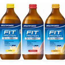 MULTIPOWER FIT PROTEIN 12X 500ML GLASS