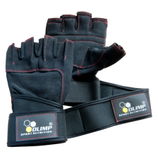 Olimp HARDCORE RAPTOR GLOVES blac red stitch